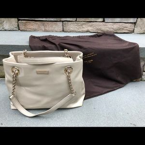 Kate Spade ivory patent tote